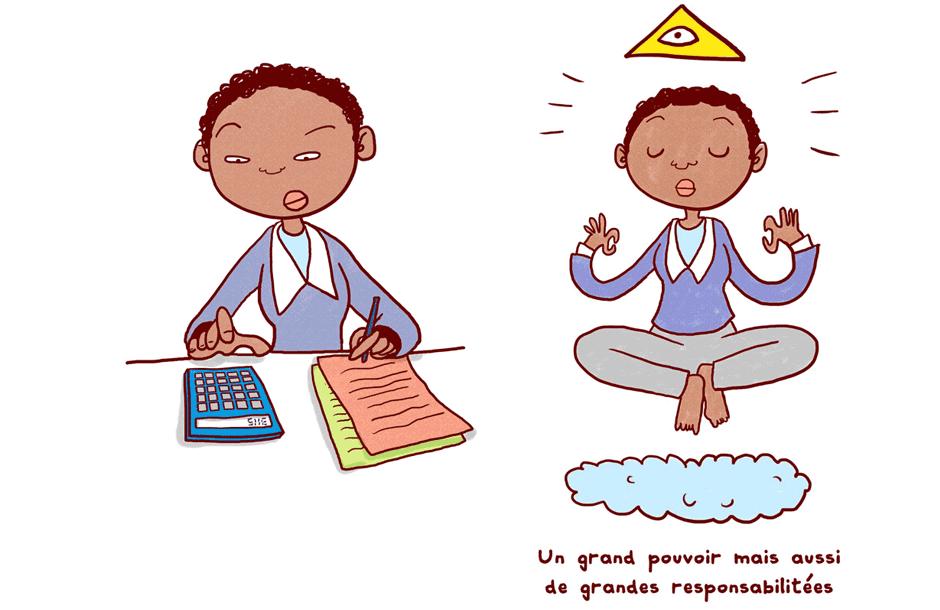 illustration personnage agenda mascotte entrepeneur couleur trait rapide noir