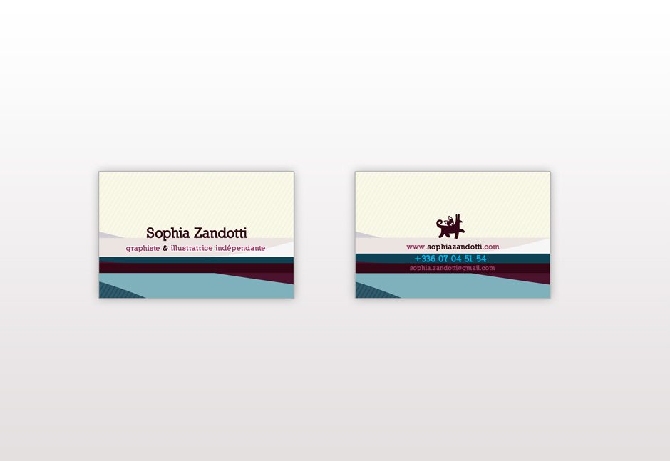 carte de visite graphiste freelance