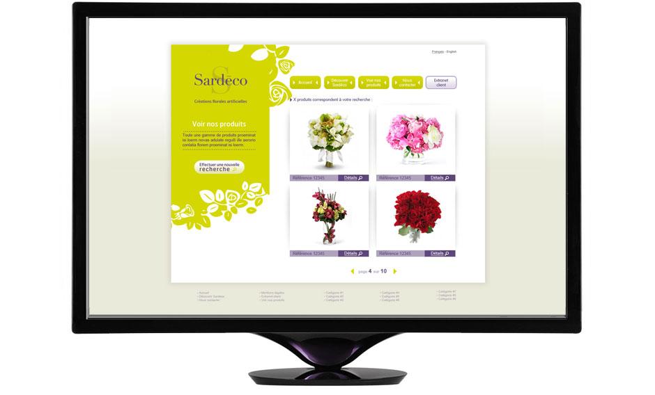 design de site internet et ergonomie pour sardéco, déclinaison web