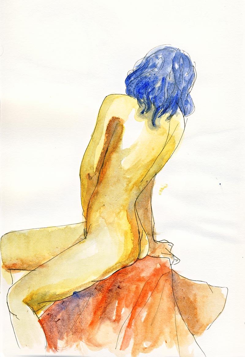 femme de dos entière