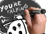 Illustration réalisée pour une revue de vulgarisation scientifique Plume! Thème : L'agressivité des coccinelles mangeuses de pucerons. Animation dans le style videoscribing avec After effects