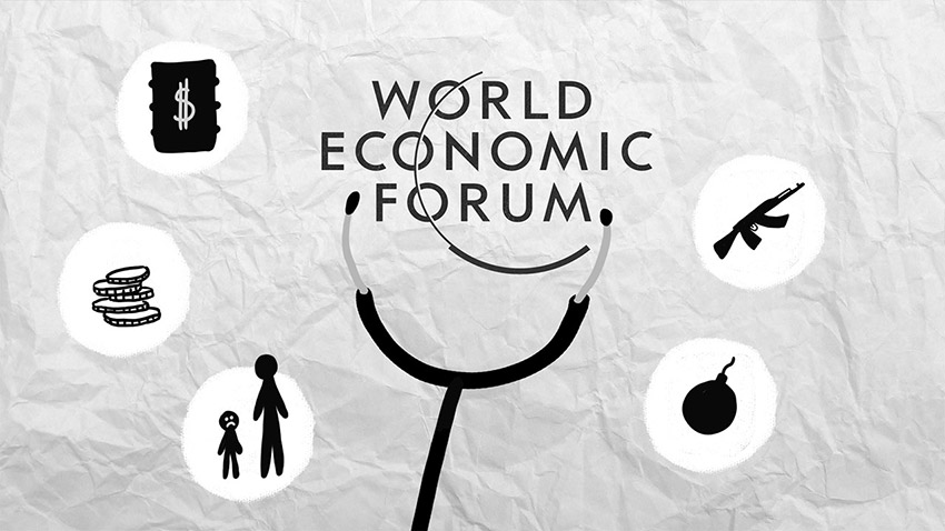 davos dessin, world economic forum, vidéo dessinée, video scribing, freelance, dessin, illustration