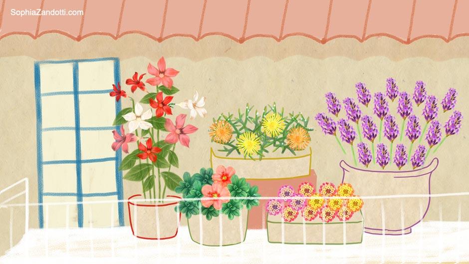 plantes_sobres_illustration_zandotti illustration zandotti illustratrice freelance paris pastel vidéo illustrée