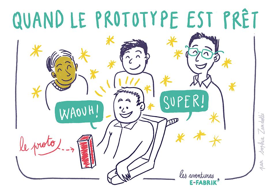 prototype, handicap, dessin, reportage dessiné