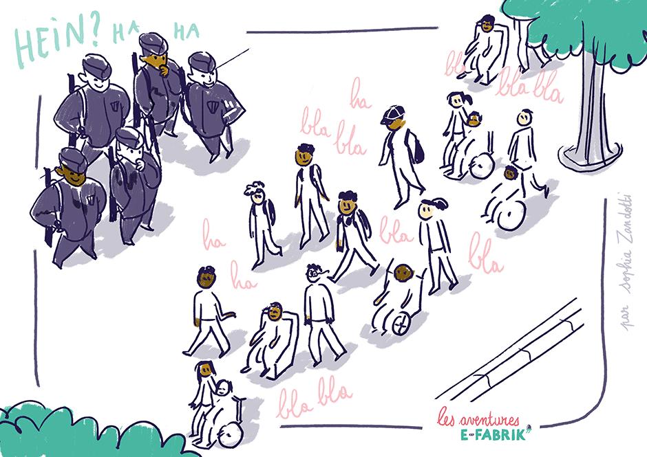 crs, efabrik, passage ,handicap, reportage dessiné