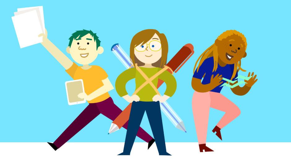 illustration vectorielle personnage ado étudiants couleur mignon monde force freelance illustrateur illustratrice paris indépendante